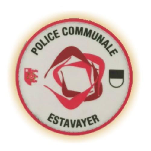 Moosgummi-Abzeichen POLICE COMMUNALE FR