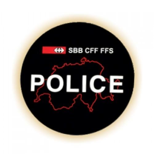 Moosgummi-Abzeichen POLICE SBB CFF FSS
