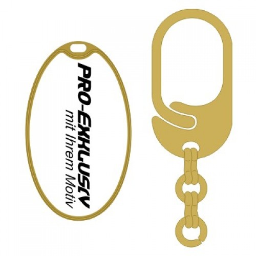 Schlüsselanhänger rund feiner Rand 33x55 mm