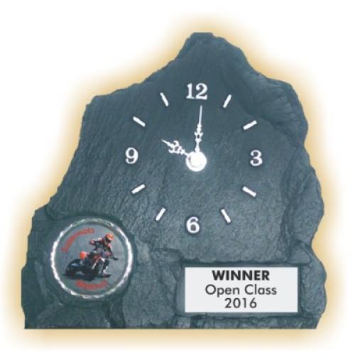 Schieferstein-Uhr SUPERMOTO