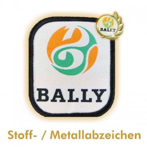 Aufnäher und Metallabzeichen BALLY