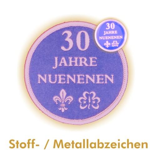 Metall- und Stoffabzeichen NUENENEN