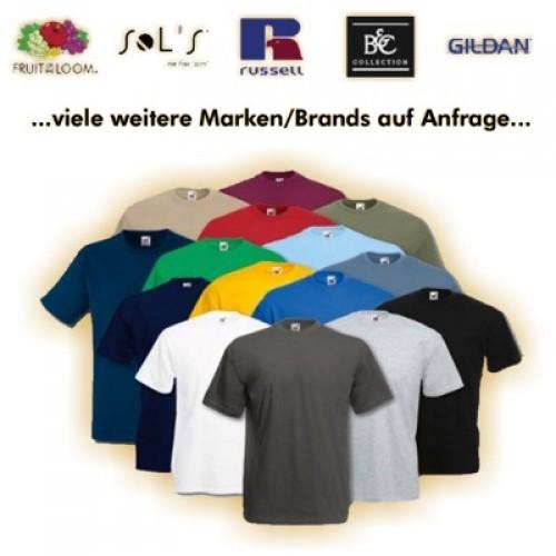 T-Shirt farbig Siebdruck